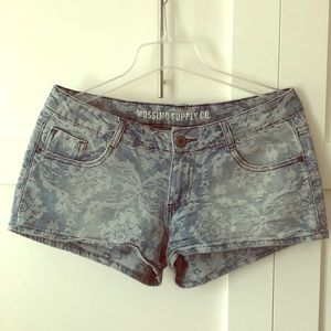 Mossimo Denim Floral Shorts